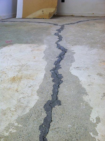 basement garage floor crack repair concrete crack repair ma nh